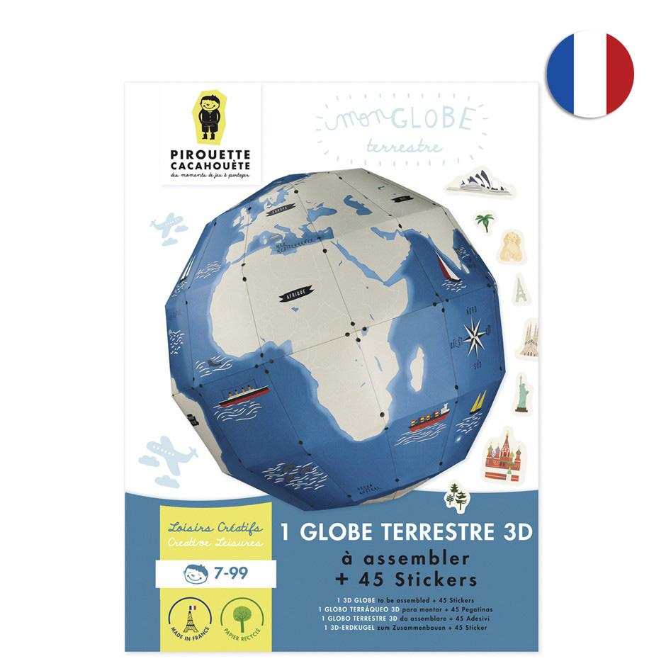 Globe terrestre - Pirouette Cacahouete