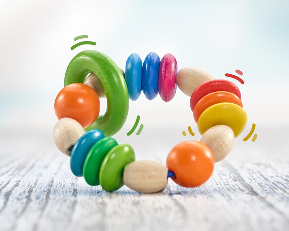 Hochet en bois - Selecta Spielzeug