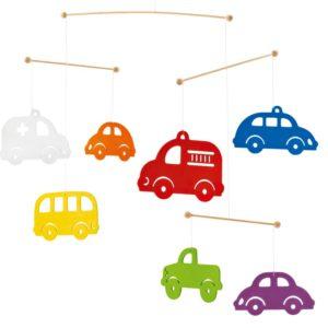 Mobile petites voitures milticolores
