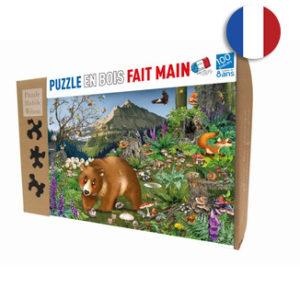 En montagne, puzzle 100 pièces