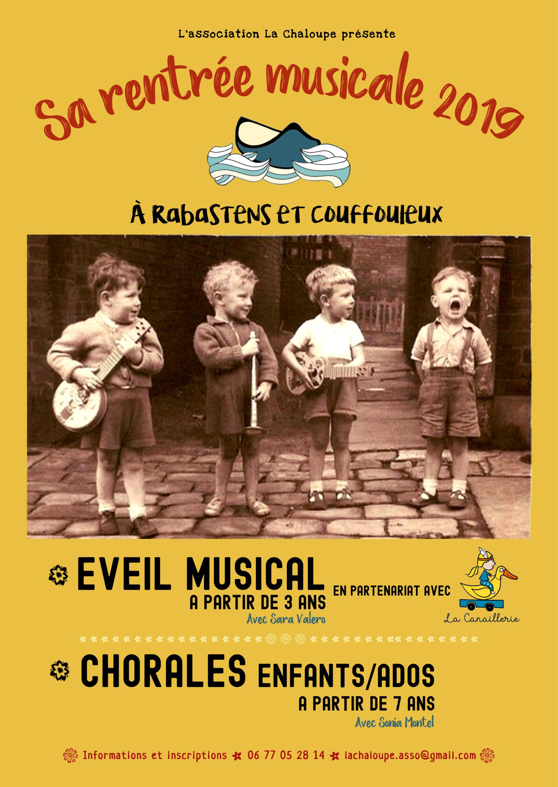 Les mercredis après midi / Atelier eveil musical pour les  enfants de 3 à 8 ans avec Sara Valero – La Chaloupe
