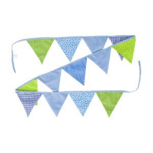 Guirlande Fanions, bleu-vert