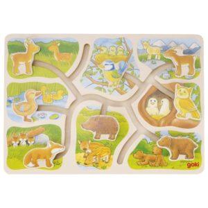 Puzzle à pousser, Où est mon petit?