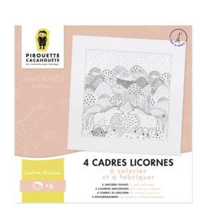 Kit créatif – Mes cadres licornes à colorier