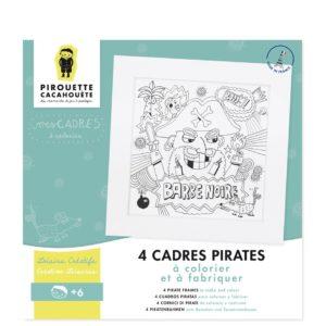 Kit créatif – Mes cadres pirates à colorier