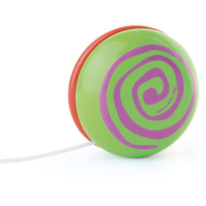 Yoyo vert et rouge à spirale