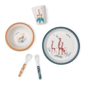 Set de vaisselle en bambou – Sous mon baobab – Moulin Roty