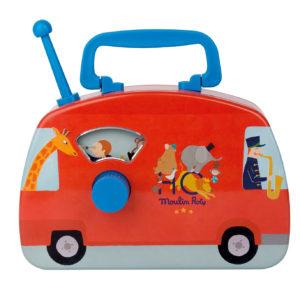 Bus musical cirque – Les jouets métal – Moulin Roty
