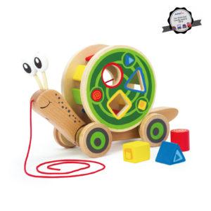 Escargot roulant avec boîte à formes – Hape