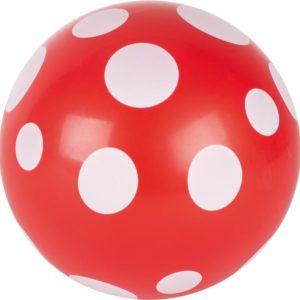 Ballon rouge à pois