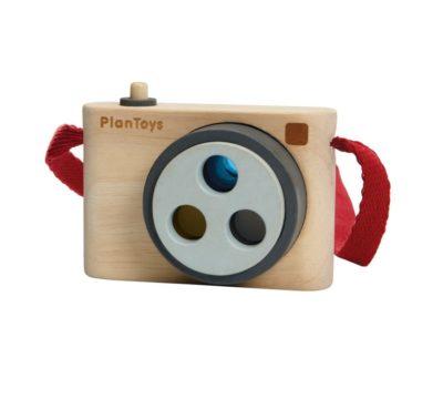 appareil photo en bois, jouet en bois, jeu d'imitation, plantoys