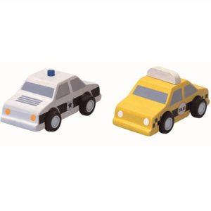 Mes mini taxi et voiture de police – Plantoys