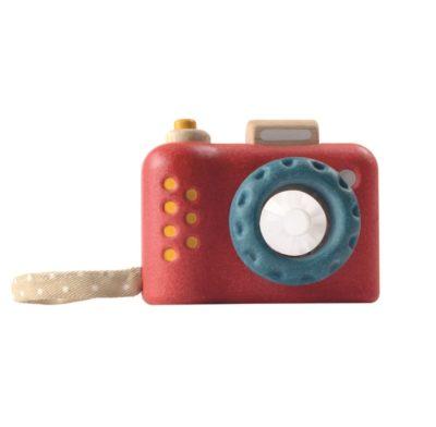 jeu d'imitation, jouete en bois, appareil photo, plantoys