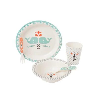 Set de vaisselle en bambou pour bébé