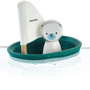 Mon bateau Ours polaire – Collection bain et plage – Plantoys