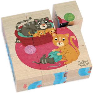 Cubes en bois les animaux – Vilac