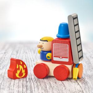 Camion pompiers, jouet à empiler