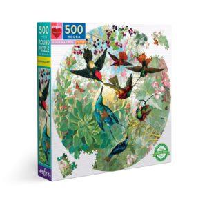 Colibris, puzzle rond 500 pièces