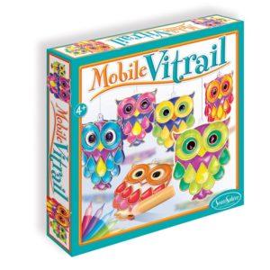 Mobile Vitrail Hiboux