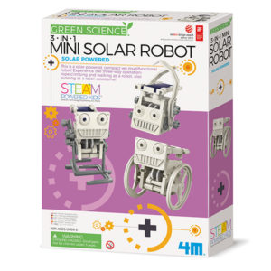 Mini robot solaire 3 en 1