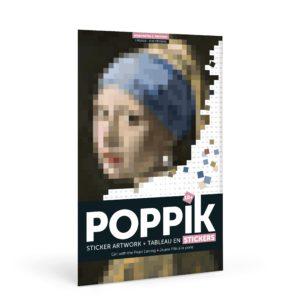 Poster géant Stickers – Jeune fille à la perle