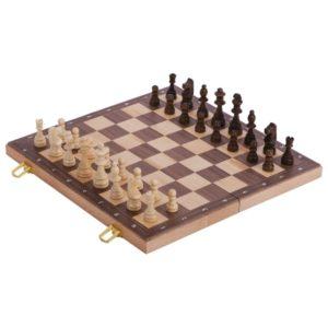 Jeu d'échecs – boîte en bois pliable