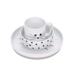 Coffret repas en porcelaine, Little Chums Chat