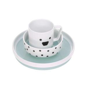 Coffret repas en porcelaine, Little Chums Chien