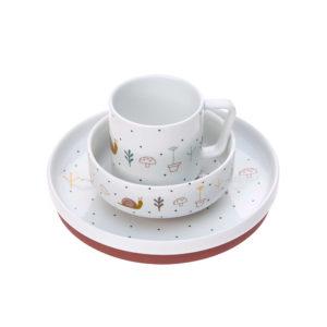 Coffret repas en porcelaine, Garden Explorer Escargot